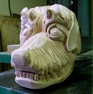 Cane con mandibola mobile